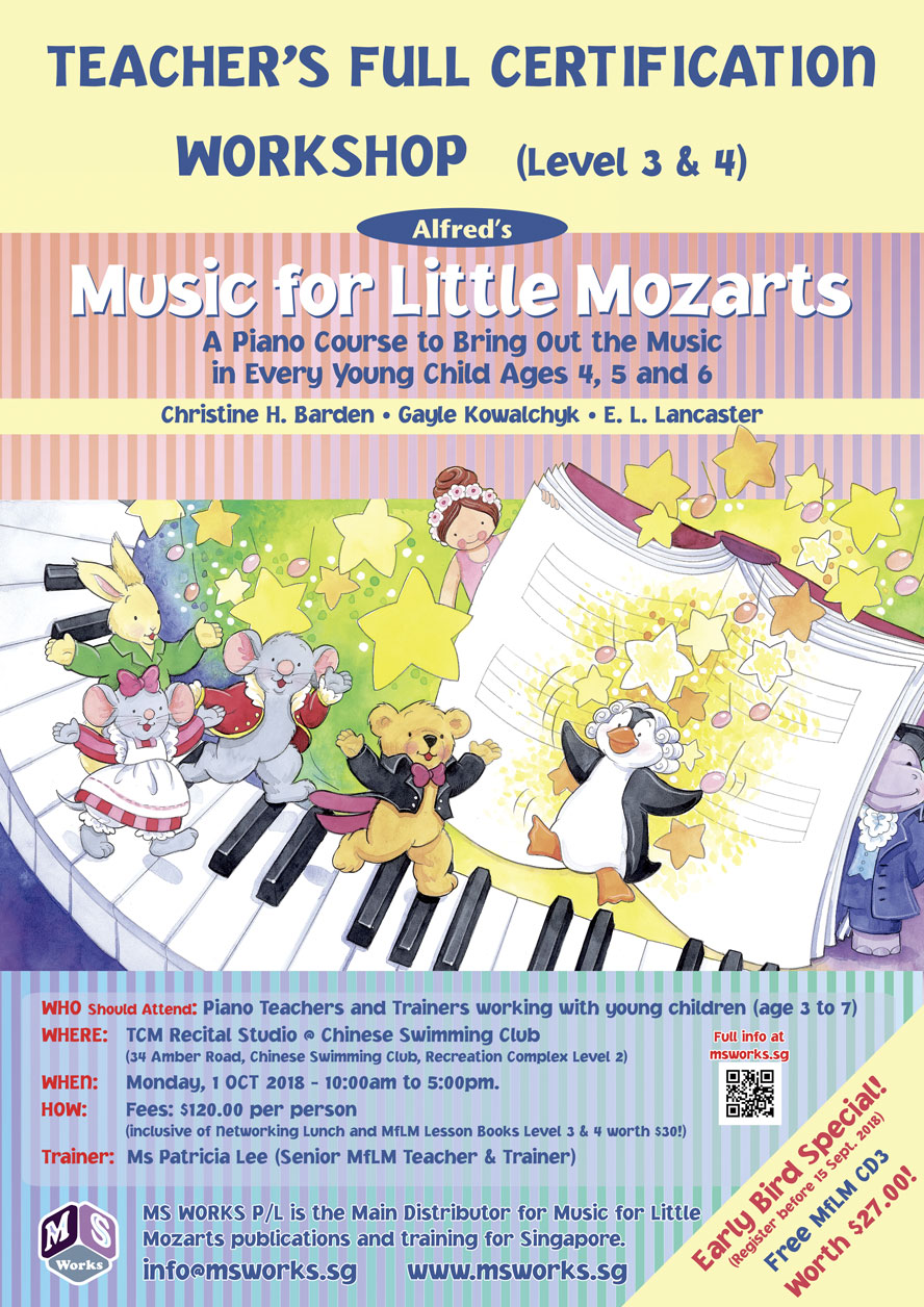 Music for Little Mozarts - Teacher's FULL Certification