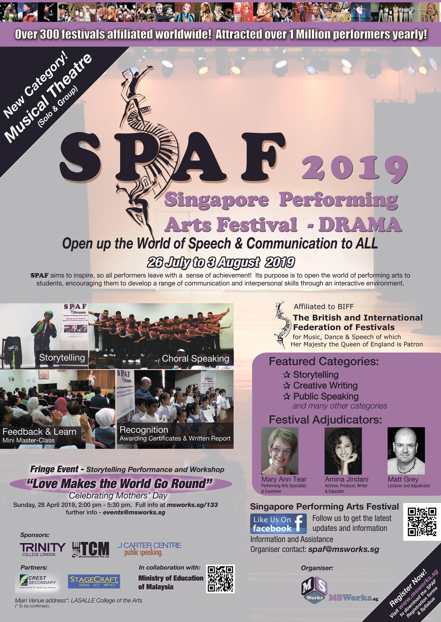 Singapore Performing Arts Festival 2019 - DRAMA - MS WORKS