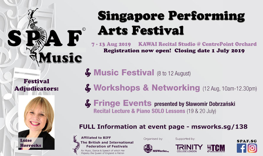 Singapore Performing Arts Festival 2019 - MUSIC - MS WORKS